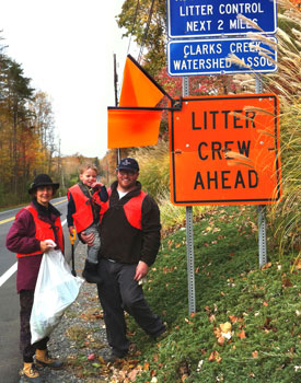 The CCWPA October 2015 Trash Pickup Crew
